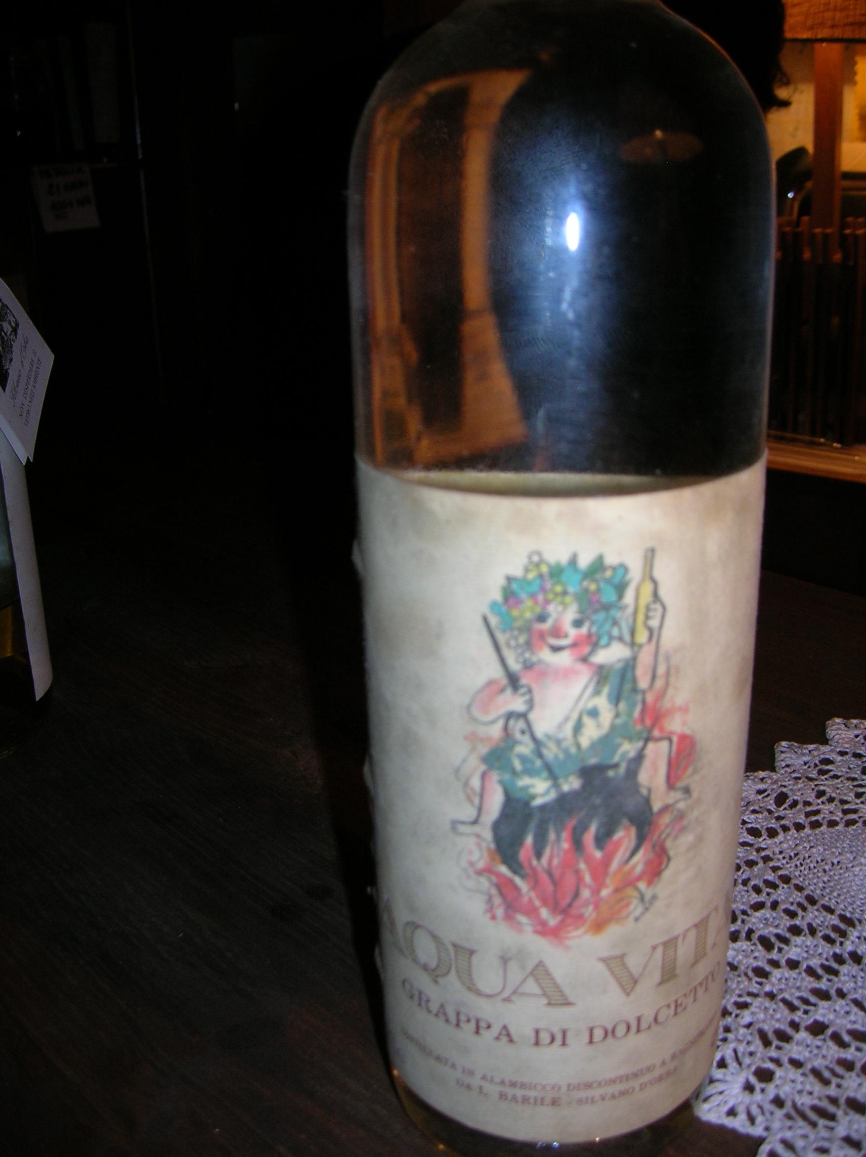 Il ritrovamento di una grappa 'Luzzatiana'